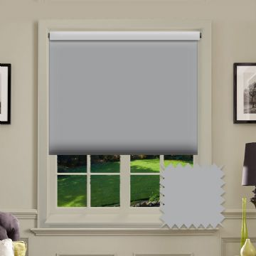 PVC Blackout Plain Grey Roller Blind